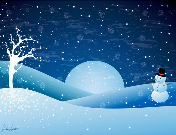 600x459 Winter Vector Inspiration And Snowy Resources