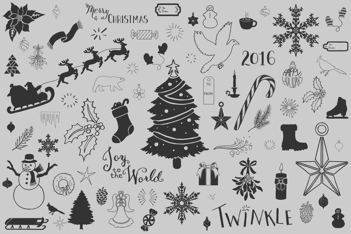 1160x774 Winter And Christmas Vector Pack Volume 1 Design Panoply