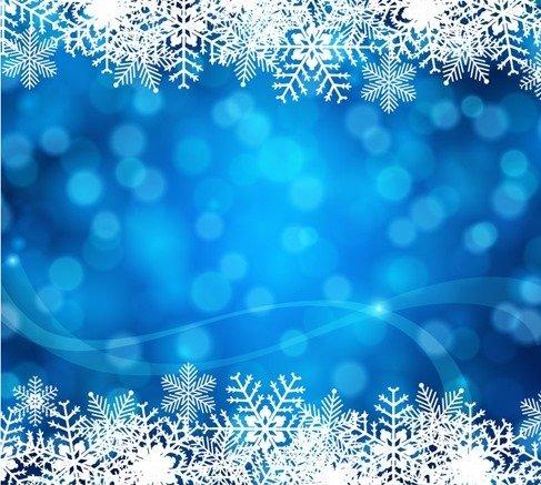 487x437 Free Blue Christmas Background Vector Art Psd Files, Vectors