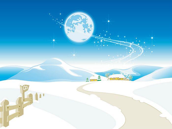 700x525 Vector Winter Scenery Illustration 16001200 N16