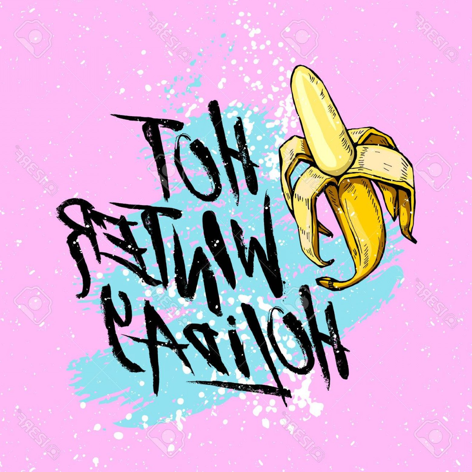 1560x1560 Photostock Vector Illustration Hot Winter Holiday With Banana On A
