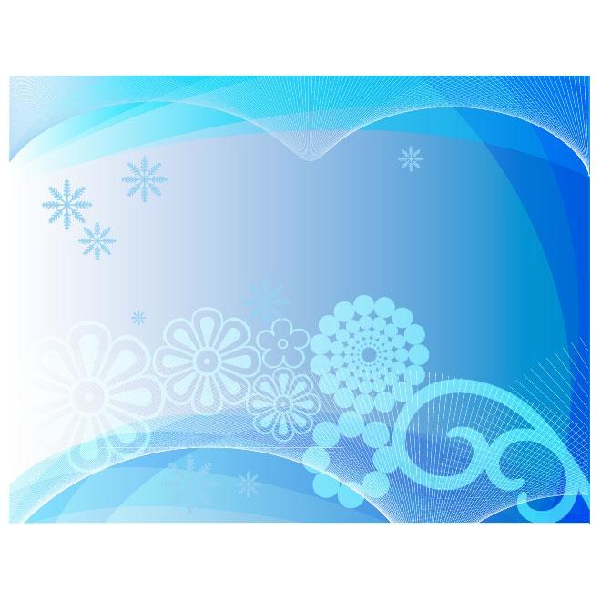 660x660 Winter Vector Graphics Background