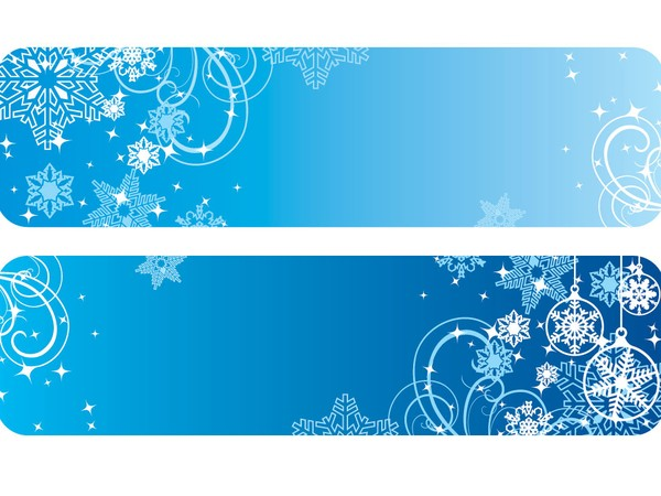 600x450 Winter Banners Vector Graphic