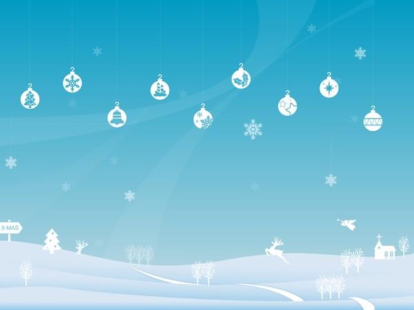 600x450 Winter Christmas Landscape