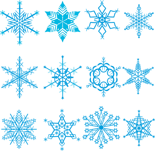 500x486 Winter Snowflakes Pattern Design Vector Graphics 02 Free Download