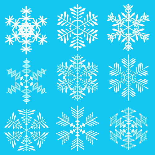 500x500 Winter Snowflakes Pattern Design Vector Graphics 03 Free Download