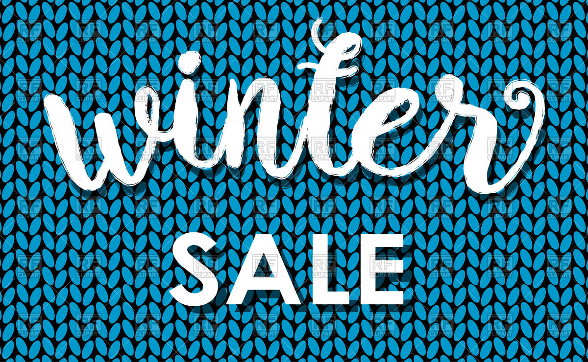 1200x740 Winter Sale Background From Knitted Wool Vector Image Vector