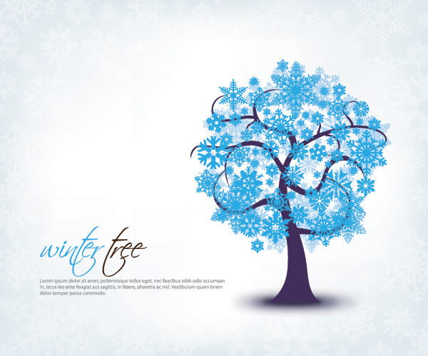 600x499 Winter Tree Vector Graphic Free Vector In Encapsulated Postscript