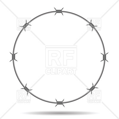 400x400 Round Frame Of Barbed Wire Vector Image Vector Artwork Of