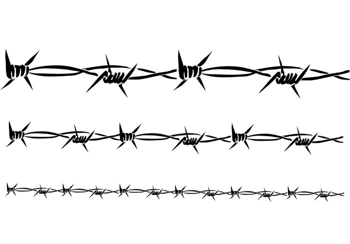 700x488 Barbed Wire ( Vector ) Wall Mural We Live To Change