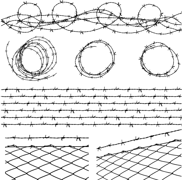 600x592 Barbed Wire Vector Free Vector 4vector