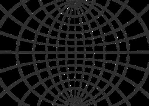 500x355 Globe Wireframe Public Domain Vectors