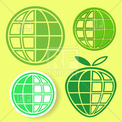 400x400 Green Wireframe Globe Icons Vector Image Vector Artwork Of Signs