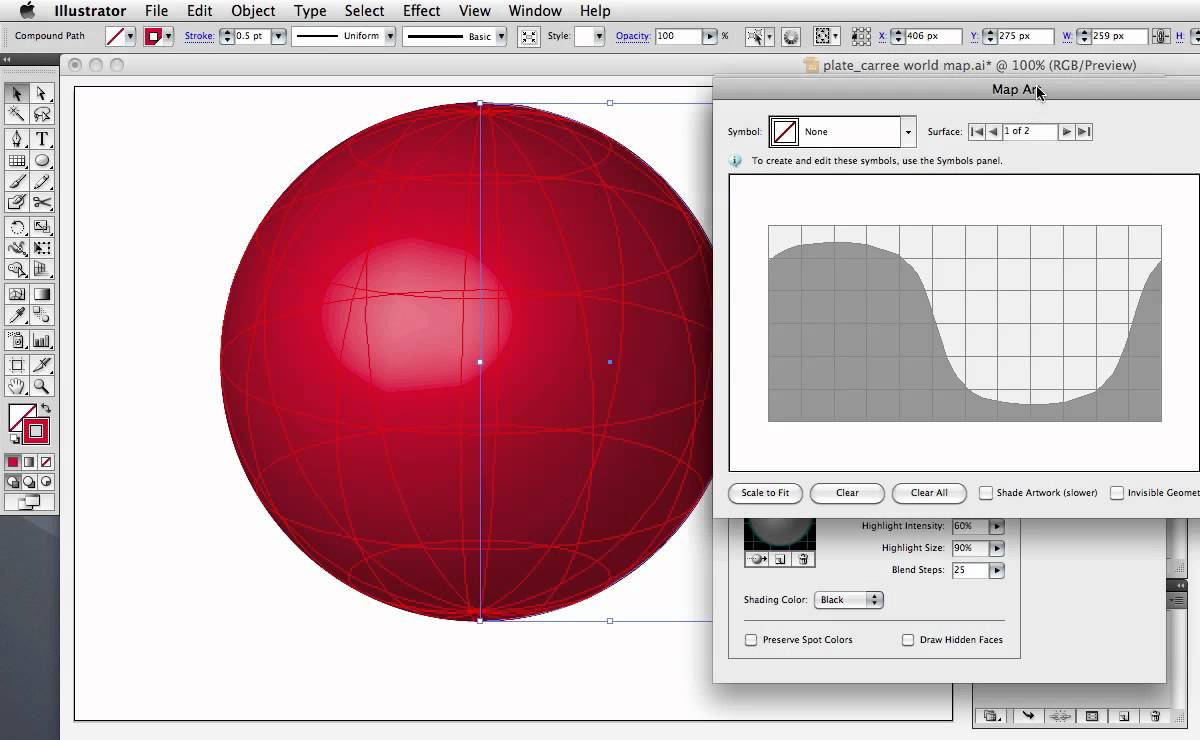 1200x740 Vector Tuts Quick Tip Create A Wireframe Globe Using