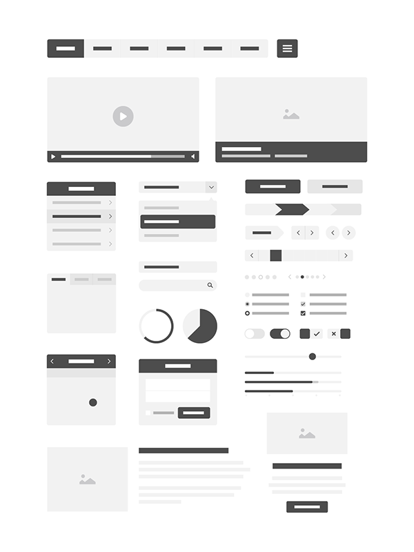 600x800 Free Vector Wireframe Kit On Behance