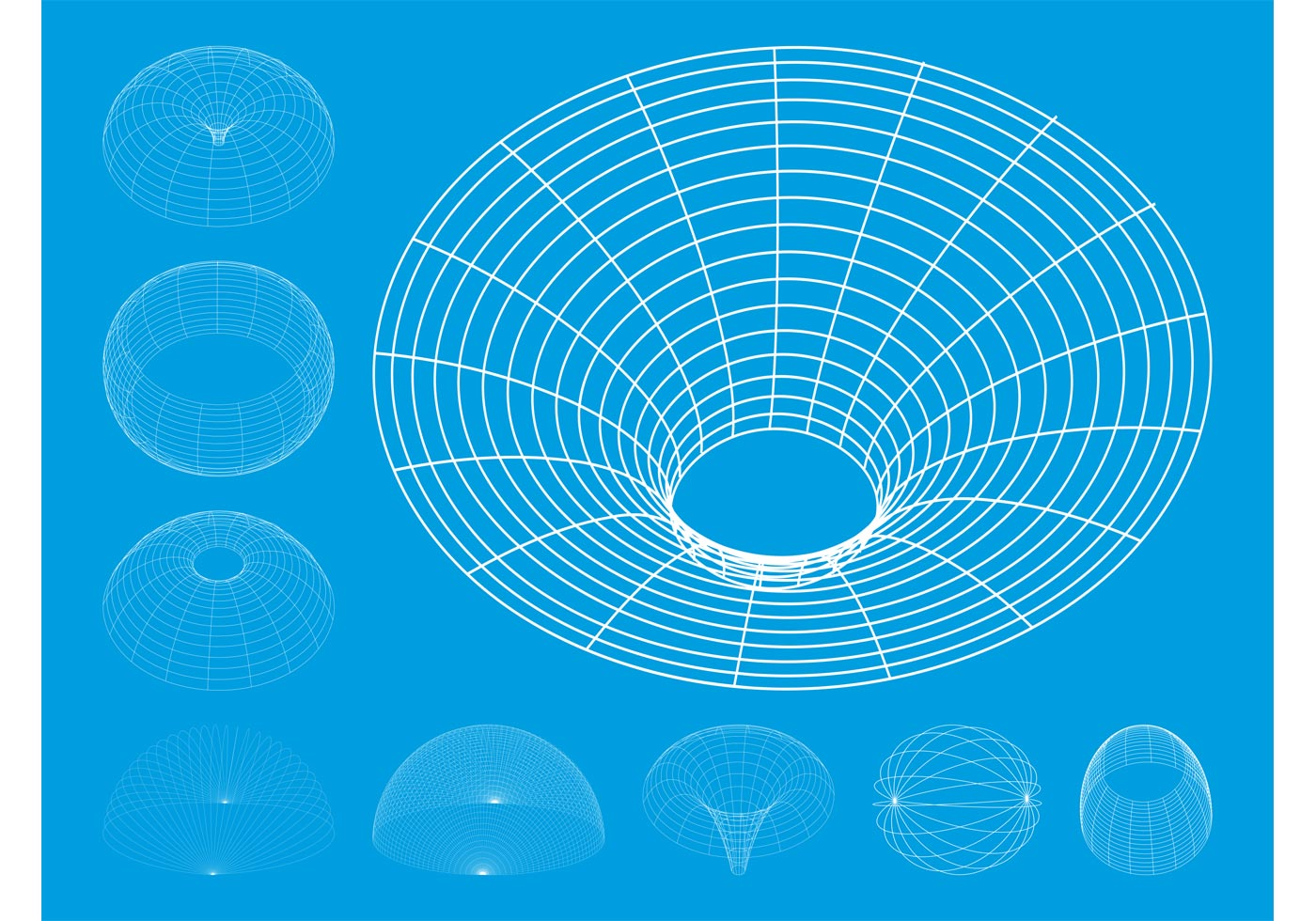 1400x980 Wireframe Free Vector Art