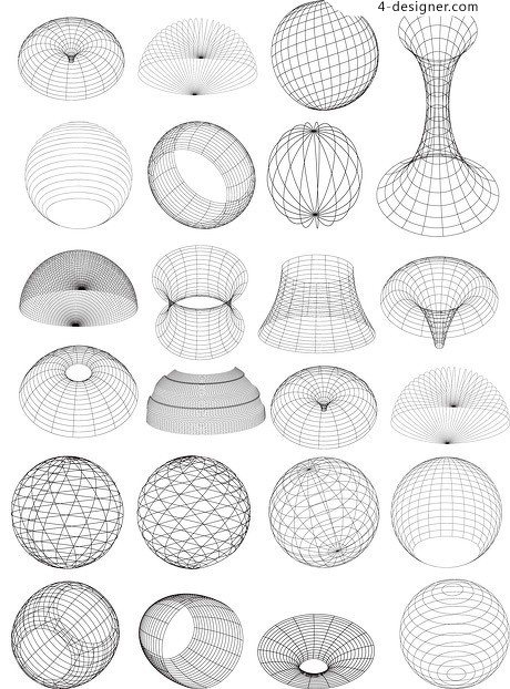 460x622 4 Designer 3d Wireframe Sphere Of Practical Change Vector Material