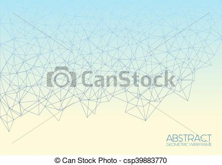 450x335 Abstract Wireframe Vector Background. Vector Abstract Linear