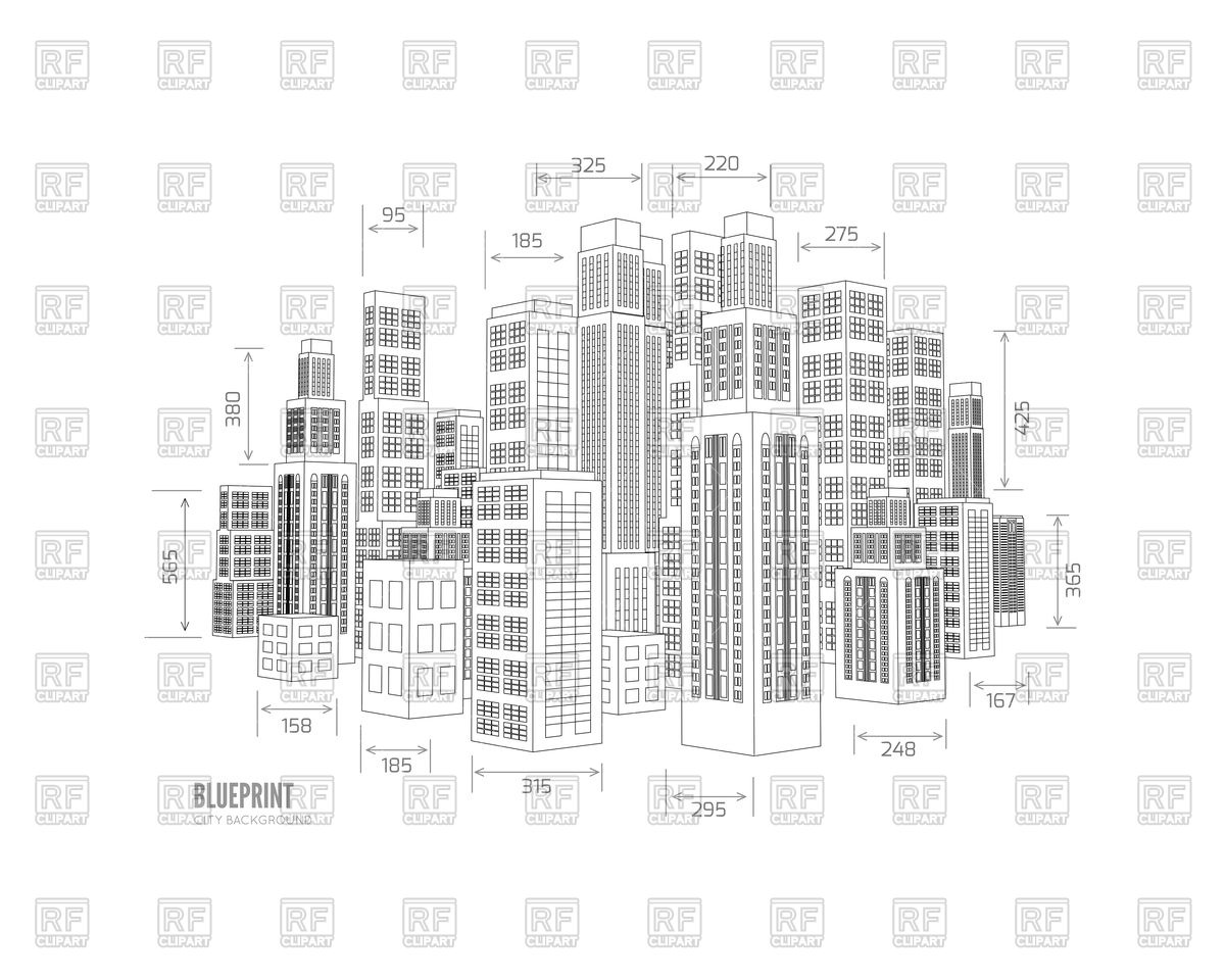 1200x960 Building Wireframe Vector Image Vector Artwork Of Architecture
