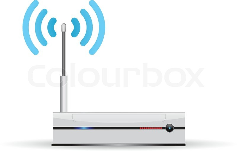 800x509 Network Router With Wireless Stock Vector Colourbox