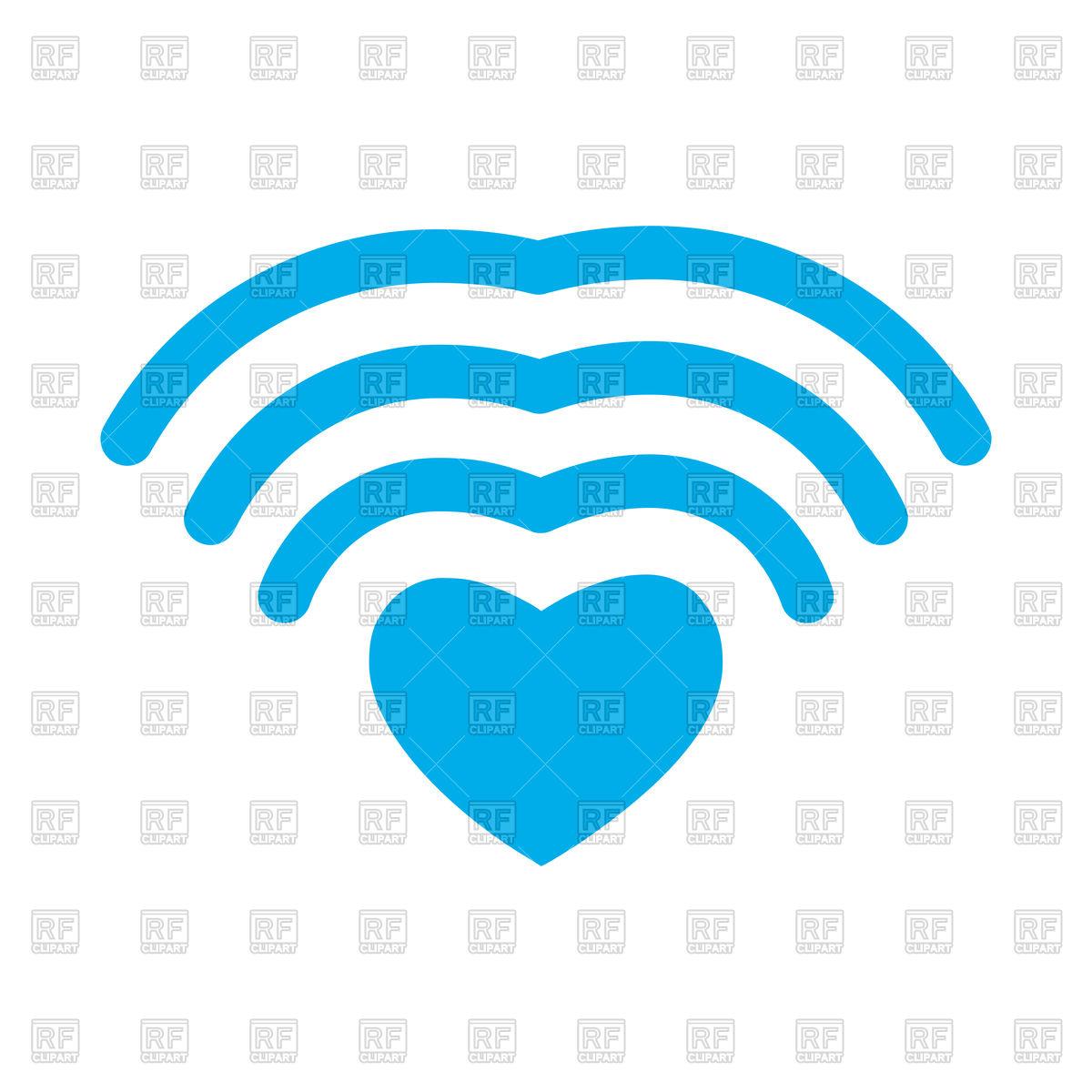 1200x1200 Wi Fi Love. Wifi Heart. Wireless Communication Icon. Vector Image