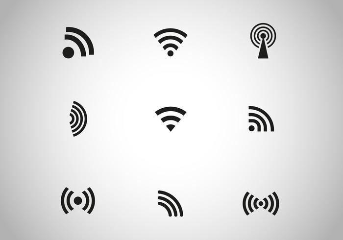 700x490 Free Black Wireless Icon Vector
