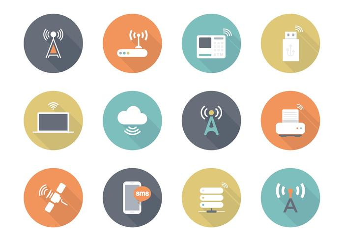 700x490 Free Flat Wireless Vector Icons