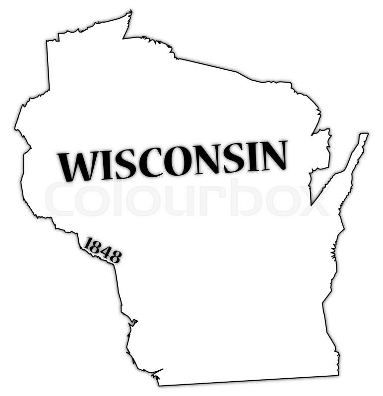 Wisconsin Outline Vector