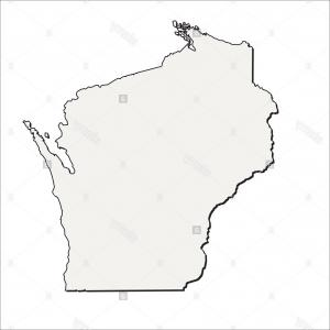 300x300 Map Of The Us State Of Wisconsin Vector Lazttweet