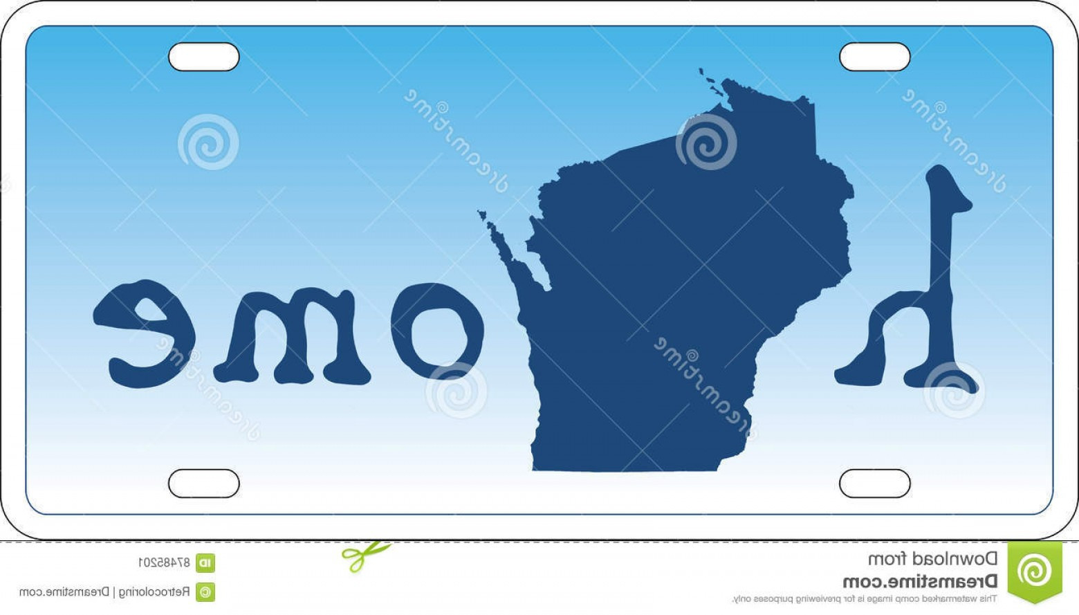 1560x889 Stock Illustration Wisconsin State License Plate Vector U S
