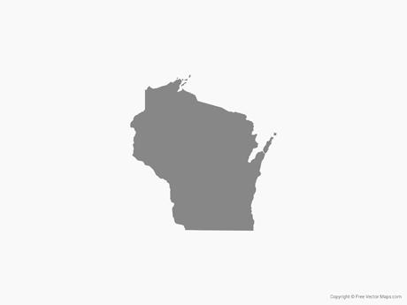 460x345 Vector Map Of Wisconsin