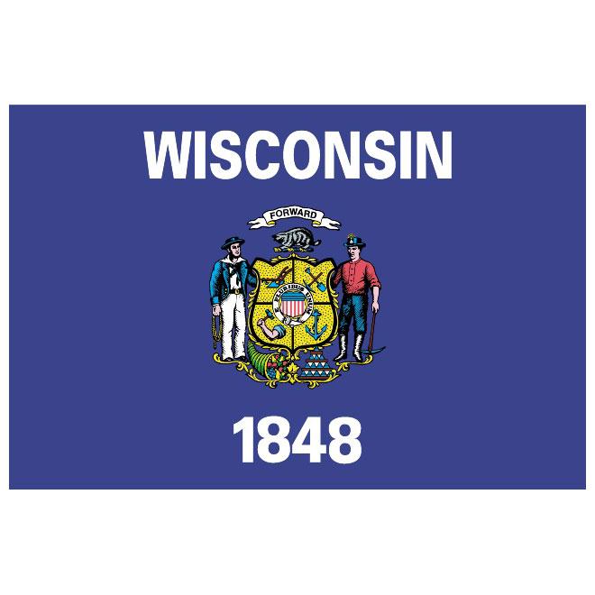 660x660 Wisconsin Vector Flag