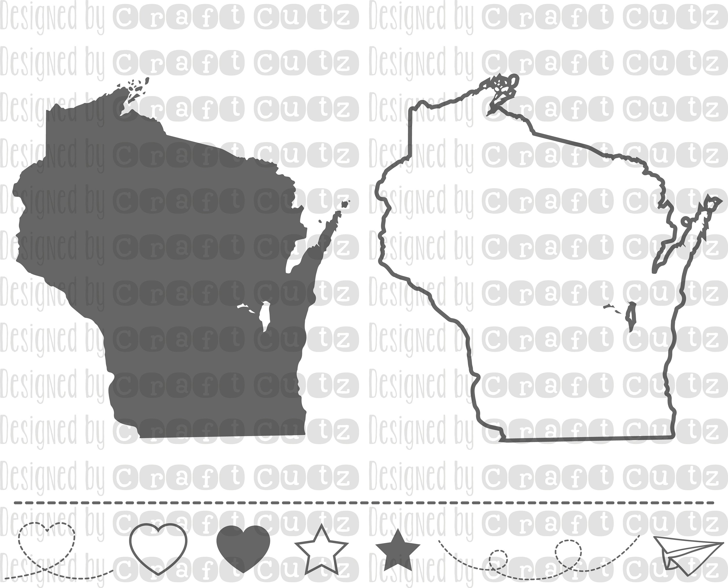 3000x2424 Wisconsin Svg State Svg Files Wisconsin Vector United Etsy