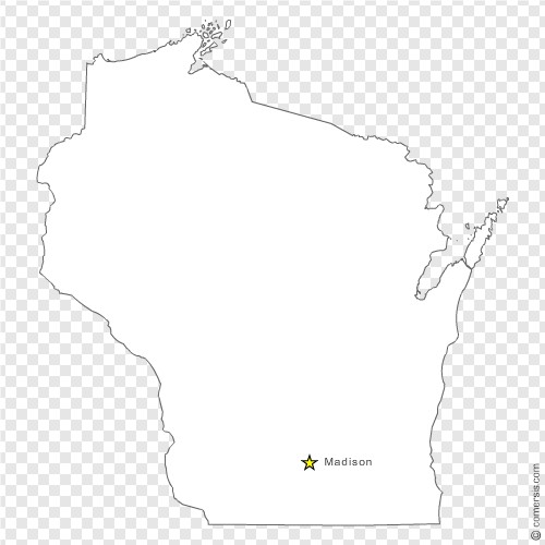 500x500 Wisconsin (Wi) Us State Free Vector Map