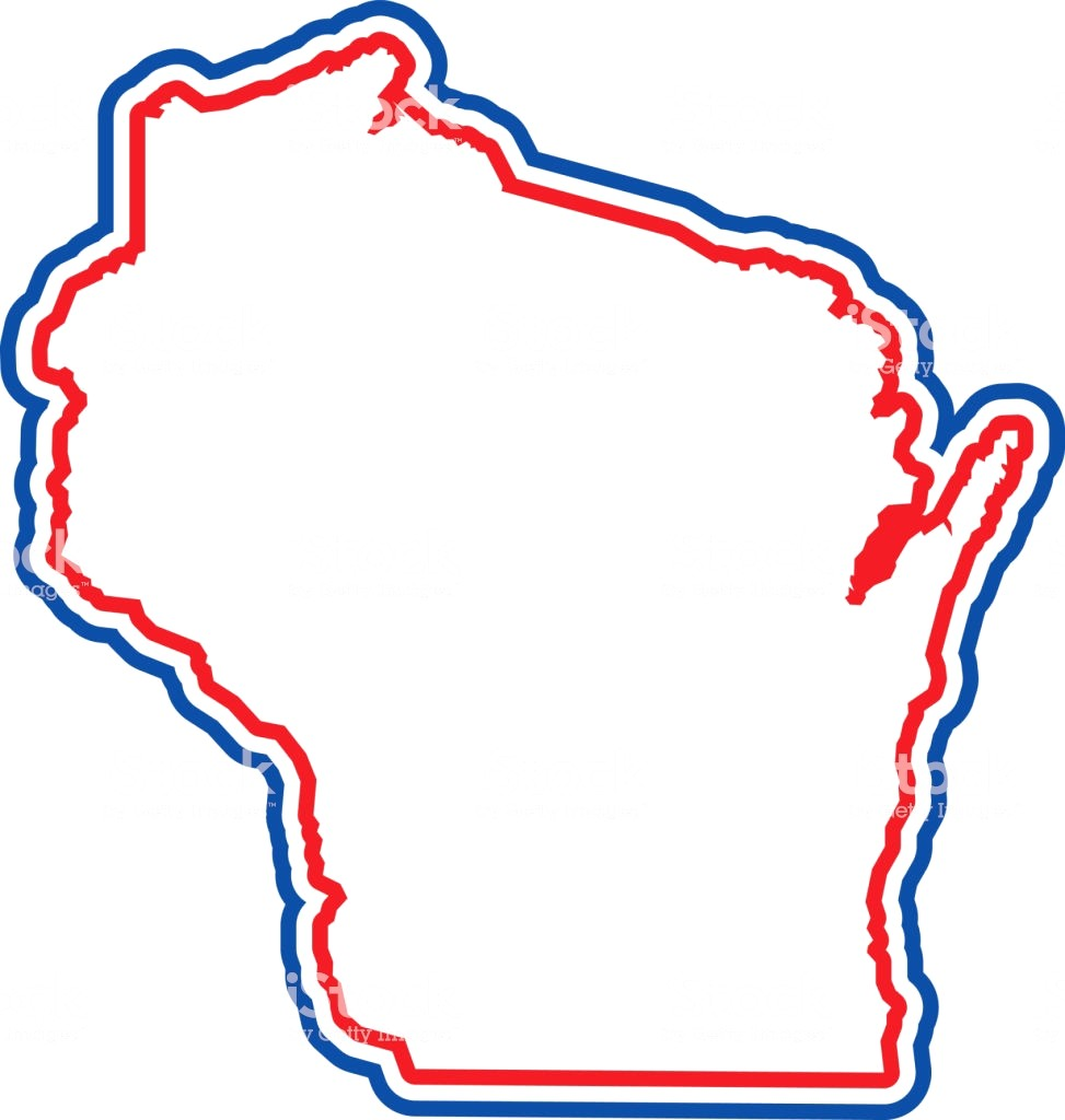 973x1024 Wisconsin Outline Vector Id933853454 State