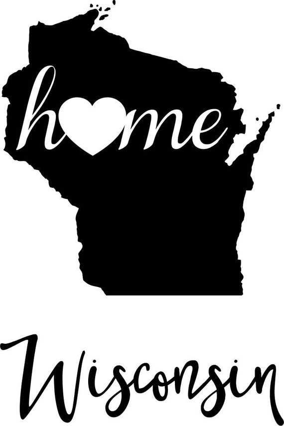 570x855 Wisconsin State Map Digital File Svg Png Jpg Eps Vector Etsy