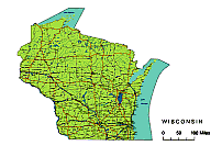 202x143 Wisconsin State Vector Road Map. Lossless Scalable Ai,pdf Map For