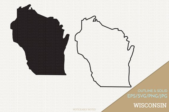 570x379 Wisconsin Vector State Clipart Wi Clip Art Wisconsin Svg Etsy