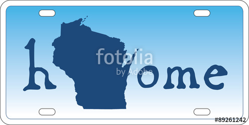 500x251 Wisconsin State License Plate Vector Stock Image And Royalty Free