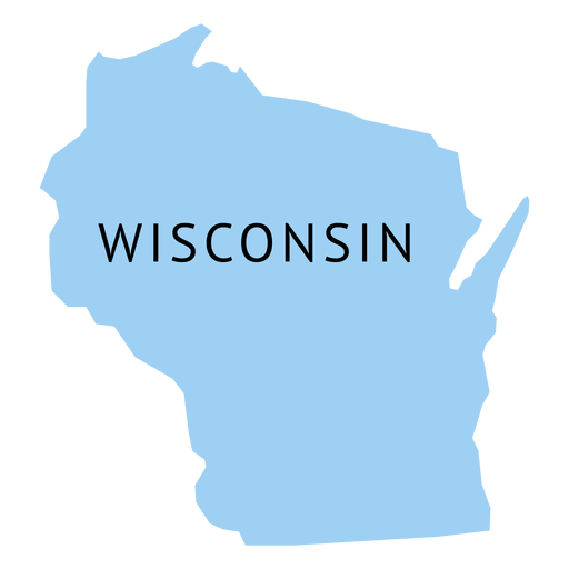 512x512 Wisconsin State Plain Map
