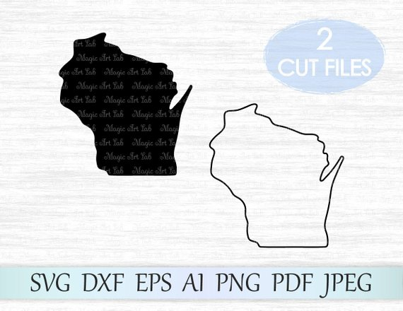 570x440 Wisconsin Svg File Wisconsin State Svg Wisconsin Vector Etsy