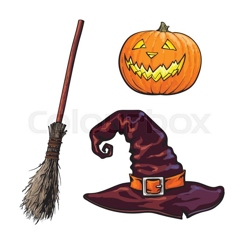 800x800 Hand Drawn Halloween Symbols