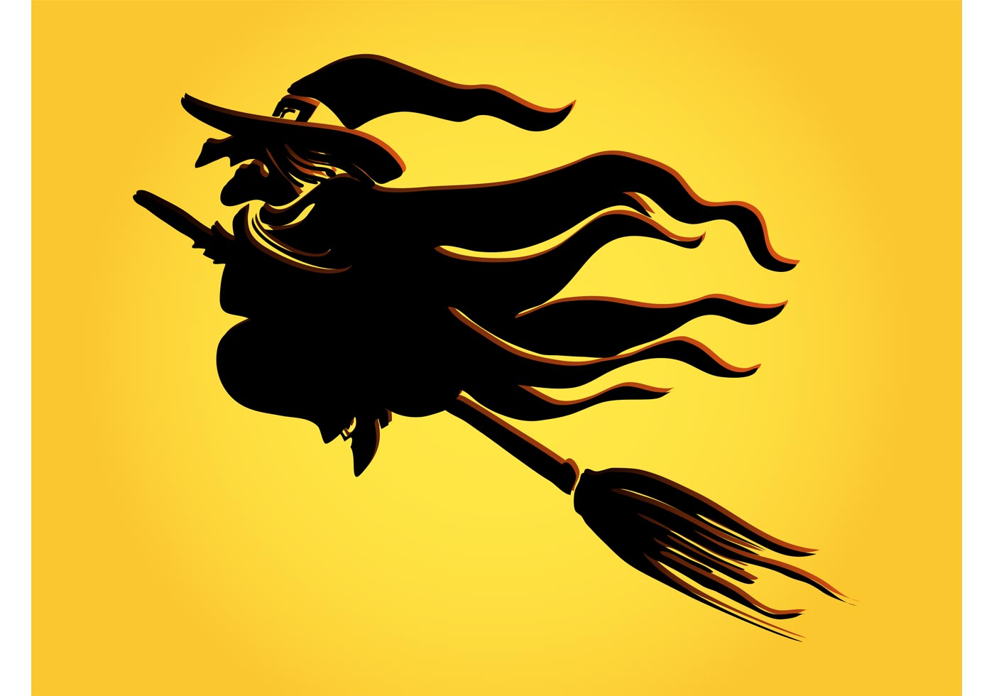 1400x980 Witch Broom Free Vector Art