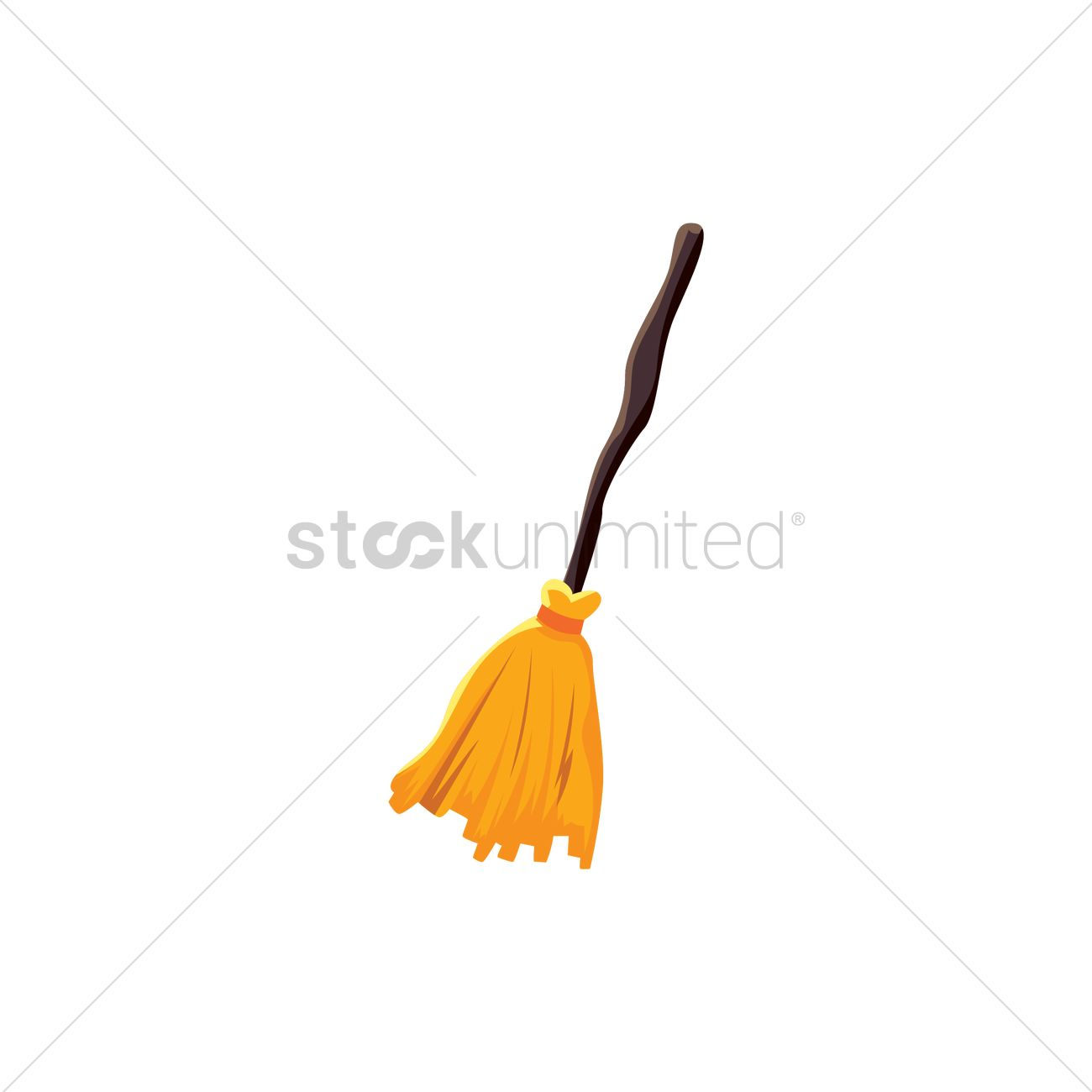 1300x1300 Witch Broomstick Vector Image