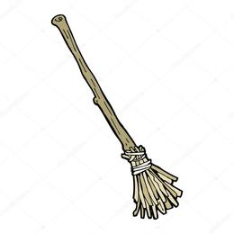 260x260 Witches Broom Black And White Clipart