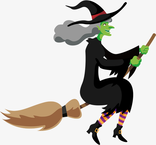650x604 Witches On Broomsticks, Vector Png, Witch, Broom Png And Vector