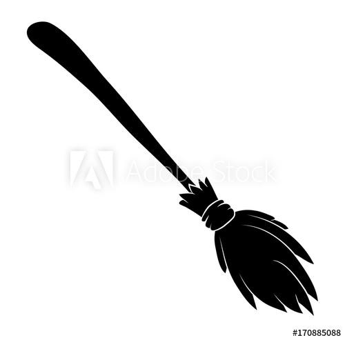 500x493 Halloween Broomstick Vector Symbol Icon Design. Beautiful