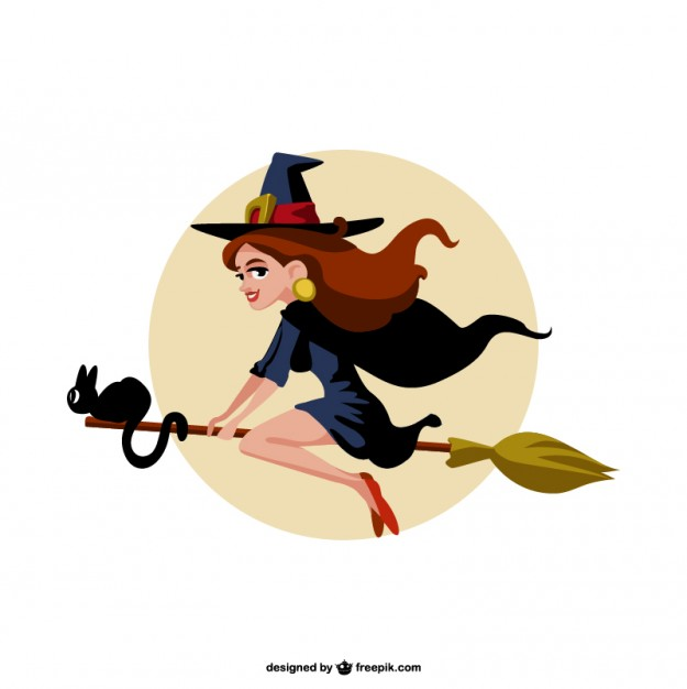 625x626 Cartoon Witch Vector Vector Free Download