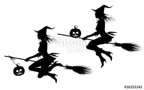 500x313 Halloween Witch Silhouette Stock Image And Royalty Free Vector