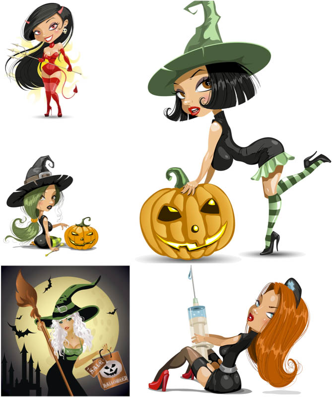 669x800 Halloween Witch Vector Vector Graphics Blog